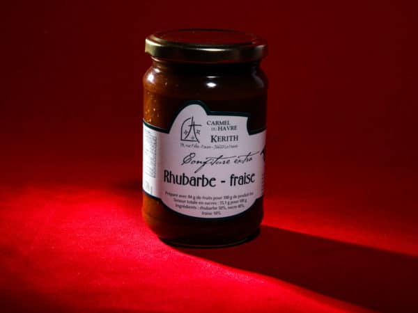 Carmel-du-Havre-confiture-artisanale-Rhubarbe-Fraise